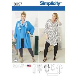 Kimono,tunika og top snitmønster plusmode