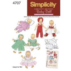 Dukktøj i 3 størrelser vintage snitmønster simplicity 4707