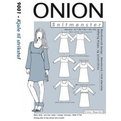Kjole til strikstof Onion snitmønster Plusmode