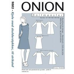 Kjole m/skulderstykker Onion snitmønster plusmode