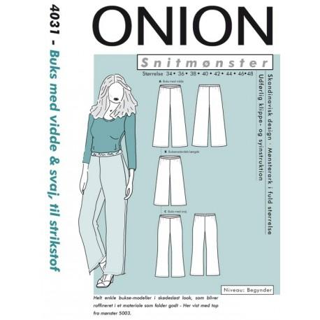 Buks mvidde og svaj Onion snitmønster 4031