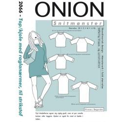 Top/kjole m/raglanærmer Onion snitmønster