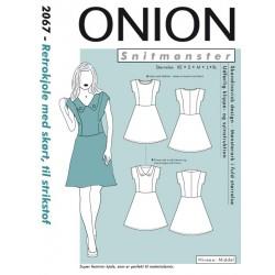 Retro kjole m/skørt Onion snitmønster