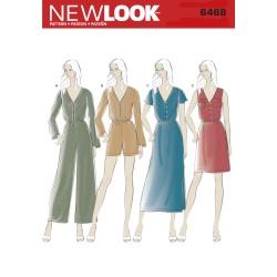 Jumpsuit og kjole snitmønster New look 6468