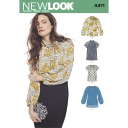 Bluse og tunika snitmønster New look 6471