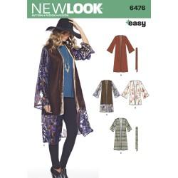 Kimono/jakke snitmønster New look easy 6476