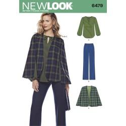 Slag/kappe bukser og tunika snitmønster New look