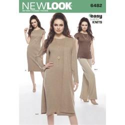 Kjole, bukser og bluse snitmønster New look easy