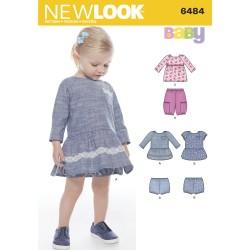 Baby kjole og bukser snitmønster New look 6484