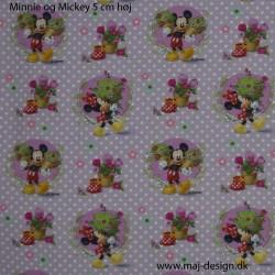 Minnie og Mickey Digital print 140 cm bred