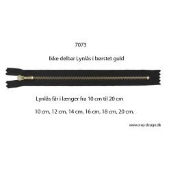4 mm ikke delbar Metal lynlås børstet guld