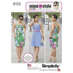 Kjole MimiGstyle Simplicity snitmønster 8123