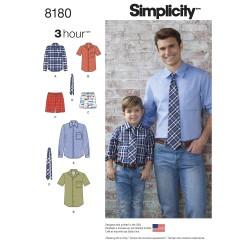 Skjorte, boxer shorts og slips snitmønster