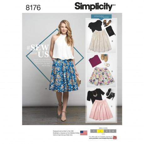 Nederdel Simplicity snitmønster 8176