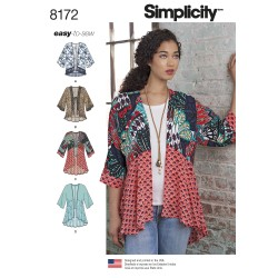 Kort kimono snitmønster