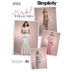 Brudekjole 2-delt/selskabskjole Simplicity snitmønster 8164