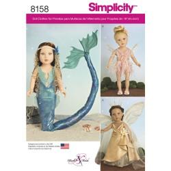 Dukke kostume havfrue Simplicity snitmønster 8158
