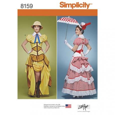 36f0ebf1 Steampunk kjole kostume voksne Simplicity snitmønster 8159