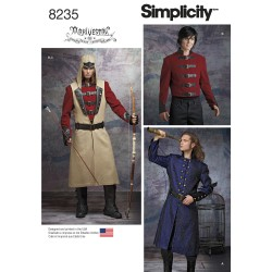 Voksen kostume Militær jakker/frakke snitmønster