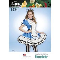 57b245fb9f48 Voksen kostume Kjole Alice i eventyrland Simplicity snitmønster 8234