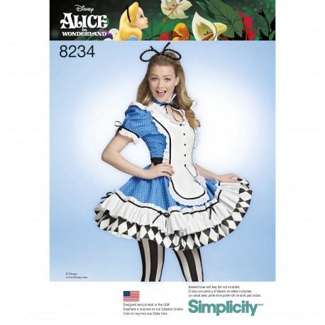 5ea700e6 Voksen kostume Kjole Alice i eventyrland Simplicity snitmønster 8234