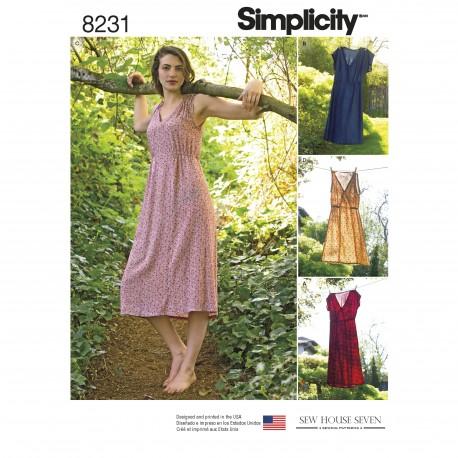 Kjole Simplicity snitmønster 8231