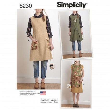 Forklæde Simplicity snitmønster 8230