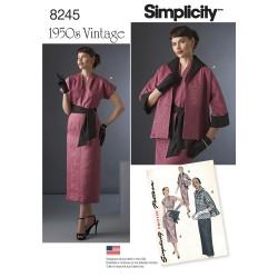 Vintage 1950érne Kjole, jakke og bælte snitmønster