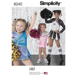 Børne kostume Cheerleader Simplicity snitmønster 8240