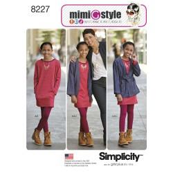 Pigekjole og leggings også pige+ MimiGstyle Simplicity snitmønster 8227