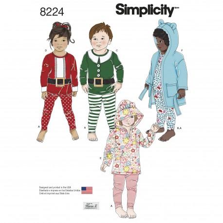 Børnetøj hættetrøje m/øer og badekåbe Simplicity snitmønster 8224