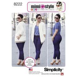 Jeans og jakke MimiGstyle Simplicity snitmønster 8222