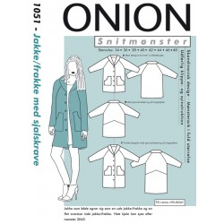 Jakke/frakke m/sjalskrave Onion snitmønster