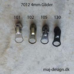4mm glider til spiral lynlås