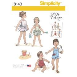 Vintage1950érne Babytøj smækbukser snitmønster