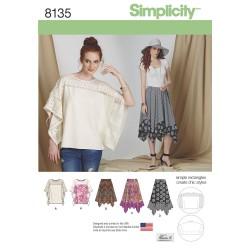 Bluse og nederdel snitmønster 8135