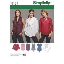 Skjorte m/åben skulder snitmønster