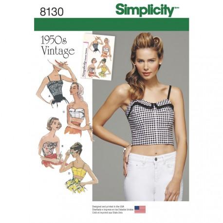 Vintage 1950´erne Top Simplicity snitmønster 8130