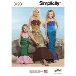 Havfrue kostume Simplicity snitmønster 8198