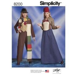 Bukser corsage og jakke kostume voksen Simplicity snitmønster 8200