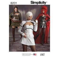 Fantasi kostume voksen Simplicity snitmønster 8201