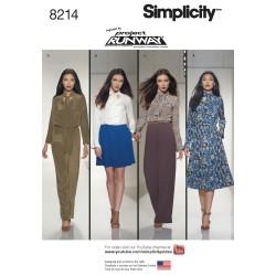 Jumpsuit, kjole og bukser Simplicity snitmønster 8214