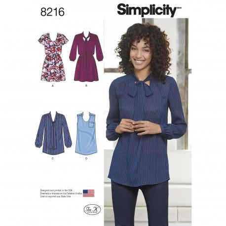 Skjorte og tunika Simplicity snitmønster 8216