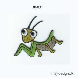 Græshoppe 5,5x5 cm strygemærke
