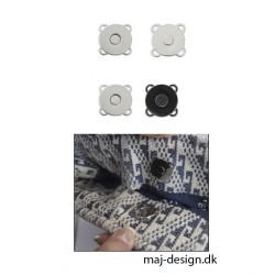 Magnet knap tryklås 16 mm 2 farver