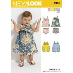 Babykjole, bukser og dragt snitmønster New look 6501