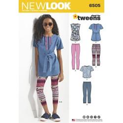 Tunika og leggings snitmønster New look 6405
