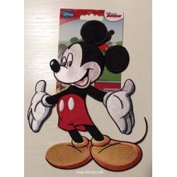 Mickey Mouse broderet strygemærke 19 x 13 cm