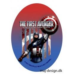 Captain America Printet strygelap oval 11x8 cm