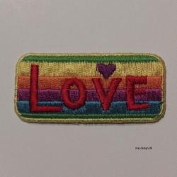 Broderet strygemærke LOVE 5,5x2,5 cm